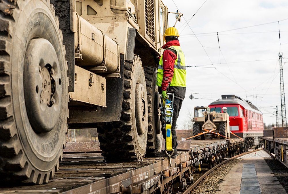 BR International Consulting Services GmbH – militärische Ladegutsicherung auf der Schiene in Kittsee
